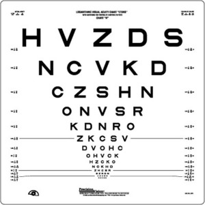 Vision tests eye charts retina doctor